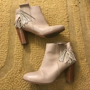Kenneth Cole leather fringe booties